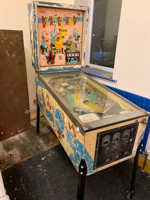 1968 Dixieland Pinball machine project.